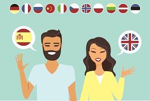 mezczyzna i kobieta mowiacy w obcych jezykach