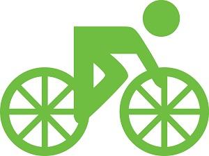 zielona ikonka roweru