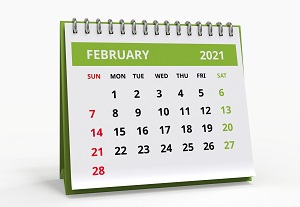 kalendarz luty