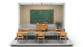 klasa szkolna na laptopie