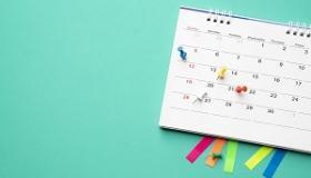 kalendarz z pinezkami