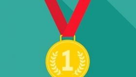 medal na zielonym tle