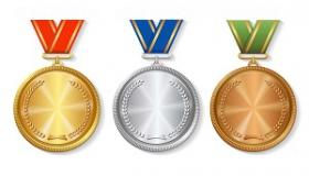 medale na bialym tle