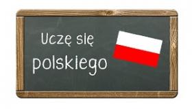 tabliczka z napisem ucze sie polskiego